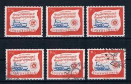 Luxemburg 1959 Eisenbahn 3 Mal Mi.Nr. 611 ** + Gest. - Luxemburg