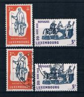 Luxemburg 1960 Flüchtling Mi.Nr. 618/19 Kpl. Satz ** + Gest. - Ungebraucht
