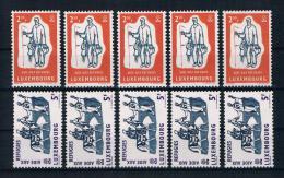 Luxemburg 1960 Flüchtling 5 Mal Mi.Nr. 618/19 Kpl. Satz ** - Ungebraucht