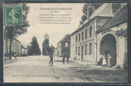 CPA 51 - Champaubert-la-Bataille, La Place - Maison Napoléon Ier - 10 - 11 Février 1814 - Sonstige Gemeinden