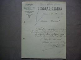 WALINCOURT NORD CORBEAU-DELHAY ZINGUERIE PLOMBERIE SERRURERIE COUVERTURES COURRIER DU 21 9bre 1912 - Francia