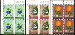 Yugoslavia,1961 Local Flora ,Mi#943/951,Y&T#843/851,block Of 4,MNH * *,as Scan - Yougoslavie
