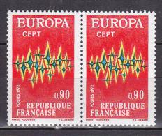 N° 1715 Europaz 1972 CEPT Une Paire De 2 Timbres Neuf - Ongebruikt