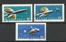 UNGARN HUNGARY 1961 Michel 1758 - 1760 Space Weltraum Kosmonautik Raumfahrt O - Space