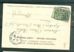 "Cpa -   Types Russes- Affranchie En 1903 Timbres Oblitéré "" Bapwaba N°3"" Varsovie Poste N°3 - Lm19811 - 1857-1916 Empire"
