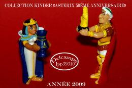 Collection Astérix (lot De 2 Figurines - César Et Cléopâtre ) 50ème Anniversaire * - Kinder & Diddl