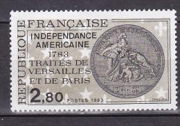N° 2285  Indépendance Américaine 1783: Traité De Versailles Et De Paris :  1 Timbre Neuf Sans Charnière - Ongebruikt