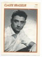 Fiche Cinéma  CLAUDE BRASSEUR 1955 - Photos