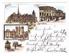 AK GB (11.3 X 8.7cm) London Litho Ges. 17.2.1900 Walzenhausen Nach Rheineck - London