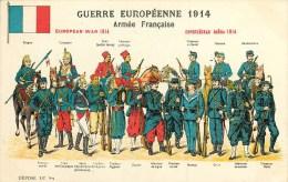 ARMEE FRANCAISE - FRANCE - UNIFORMES  - W.W.1. - 1914  - CPA ILLUSTREE - TB - VOIR 2 SCANS. - Guerre 1914-18