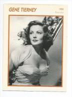 Fiche Cinéma  GENE THIERNEY 1955 - Photos