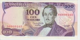 Colombia 100 Peso 1980 Pick 418b UNC - Colombie