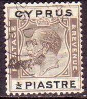Cyprus 1924 SG #104 ½pi Used Brownish Black & Black - Cyprus (...-1960)