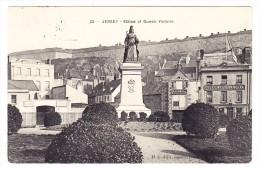 AK GB Jersey Statue Of Queen Victoria Ges. 23.8.1907 Jersey Foto H.G. Allix - Jersey