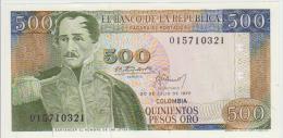 Colombia 500 Peso 1977 Pick 420 UNC - Colombie