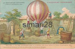 LA NAVIGATION AERIENNE - 1er BALLON MONTGOLFIER (1783) - (CHOCOLAT LOMBARD) - Montgolfières