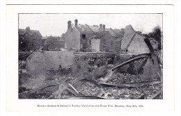 AK GB Godson & Dobson's Timber Yard After The Great Fire 8.5.1905 - Angleterre