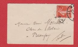 Enveloppe Du Mans  --  Pour Beaujay  --  1910 - 1921-1960: Modern Tijdperk