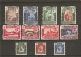 ADEN KATHIRI STATE OF SEIYUN 1942 SET SG 1/11 MOUNTED MINT (2R IS UM) Cat £60 - Aden (1854-1963)