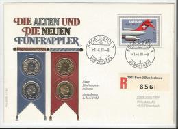 Suisse FDC Die Alten Und Neuen Fünfräppler (856) - FDC