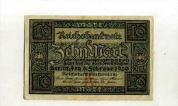 - ALLEMAGNE WEIMAR . REICHSBANKNOTE . 10 M. - 1918-1933: Weimarer Republik