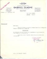 Laines GO Etb GABRIEL OLAGNE ANNONAY Ardèche Poils Bourres Crins  Lettre Illustration Mf - France