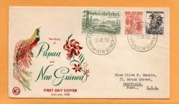 Papua New Guinea 1958 FDC - Papouasie-Nouvelle-Guinée