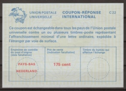 PAYS BAS / NEDERLAND International Reply Coupon Reponse Antwortschein IRC IAS  La23D 175 Cent  Mint   Geuzendam G42 - Postal Stationery