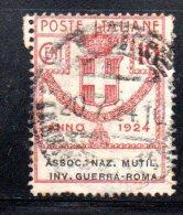 Y276 - REGNO , Parastatali 10 Cent N. 6 Usato Assoc,naz.mutil.inv.guerra-roma - 1900-44 Victor Emmanuel III