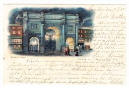 AK GB London Marble Arch  Litho Ges. 8.2.1901 - London