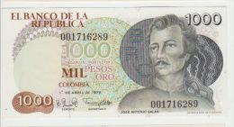 Colombia 1000 Peso 1979 Pick 421 AUNC - Colombie
