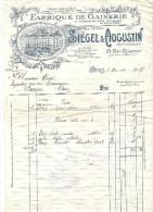 FABRIQUE De GAINERIE SIEGEL & AUGUSTIN Rue Réaumur PARIS Pour BIJOUTERIE Lettre Illustration Tramway - France