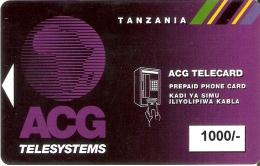 TARJETA DE TANZANIA DE 1000 UNITS DE ACG TELESYSTEMS CON BANDA MAGNETICA