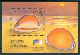 2002 Solomon Island Vita Marina Marine Life Conchiglie Shells Coquilles Block MNH** C87 - Isole Salomone (1978-...)
