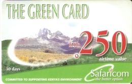 TARJETA DE KENIA DE SAFARICOM DE KSH250 DE UNAS MONTAÑAS DATE 31/12/2003 - Kenya
