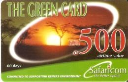 TARJETA DE KENIA DE SAFARICOM DE KSH500 DE UNA PUESTA DE SOL- SUNSET DATE 20/07/2007 - Kenya
