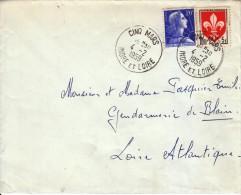 1959 - Marianne De Muller Et Complément - TàD De Cinq Mars - FRANCO DE PORT - 1955- Marianne De Muller