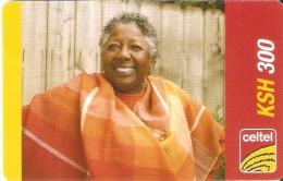 TARJETA DE KENIA DE CELTEL DE KSH 300 DE UNA MUJER - WOMAN DATE 31/12/2008 - Kenia