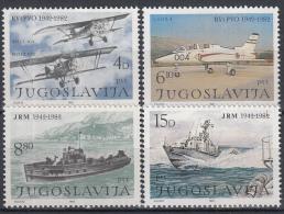 Joegoslavië - 40 Jahre Jugoslawische Luftwaffe, Luftabwehr Und Kriegsmarine - MNH - M 1939-1942 - 1945-1992 Socialistische Federale Republiek Joegoslavië