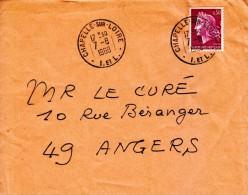 1968 - Marianne De Cheffer à 30 Centimes Dentelée 3 Côtés - TàD De Chapelle-sur-Loire - FRANCO DE PORT - 1967-70 Marianne De Cheffer