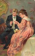 Postkaart / Verloving / Koppel / Couple / Romantisch / Fiançailles / Engagement / 1909 - Noces