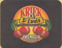 St. Louis - Kriek Premium Lambic - Framboise/Peche/Faro/Cassis - Ongebruikt Exemplaar - Bierviltjes