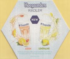 Hoegaarden - Radler Agrum/Lemon&Lime - Witbier Met Sap Van Natuurlijke Origine - Ongebruikt Exemplaar - Bierviltjes