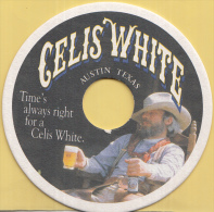 Celis White - Austin Texas - Time's Always Right For A Celis White - Cowboy - Ongebruikt Exemplaar - Bierviltjes