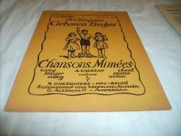 *-GEBAREN LIEDJES-/ CHANSONS MIMEES- 4° Bundel - 1953 - Books, Magazines, Comics