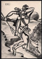 # 1. EXU, ORIXA ESOTERIC BRAZIL PRINT Art Print Stampa Gravure Druck Brasil Bresil Brazilien Religion - Religion &  Esoterik
