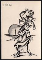 # 7. OXUM, ORIXA ESOTERIC BRAZIL PRINT Art Print Stampa Gravure Druck Brasil Bresil Brazilien Religion - Religion & Esotericism