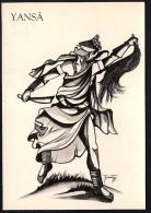 # 9. YANSA, ORIXA ESOTERIC BRAZIL PRINT Art Print Stampa Gravure Druck Brasil Bresil Brazilien Religion - Religion &  Esoterik