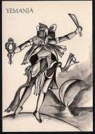 # 10. YEMANJA, ORIXA ESOTERIC BRAZIL PRINT Art Print Stampa Gravure Druck Brasil Bresil Brazilien Religion - Religion &  Esoterik