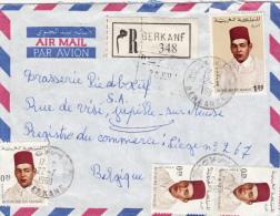 Enveloppe Recommandé Berkané - Brasserie Piedboeuf Jupille 1969 - Maroc (1956-...)